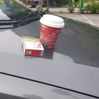 Kaffeepause auf dem Weg zum Gardasee