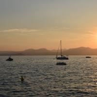 Bardolino 2019, Sonnenuntergang am Hafen